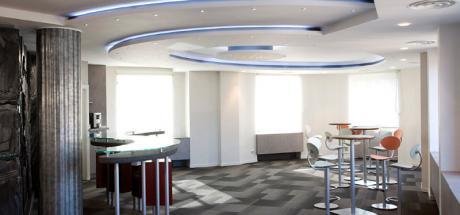 Aménagement d'un espace de détente pour une banque